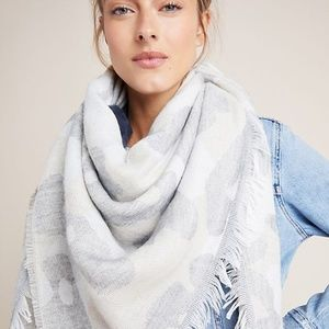 NWT Anthropologie Mason Printed Scarf White Motif
